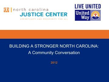 Community Conversations - United Way of North Carolina