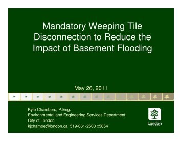 Mandatory Weeping Tile Disconnection to Reduce the Impact of ...