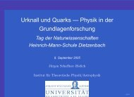 Urknall und Quarks - Institut für Theoretische Physik der Universität