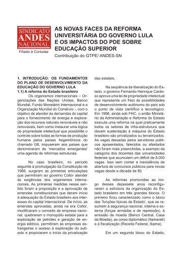 A Reforma Universitária do governo Lula da Silva - WordPress ...