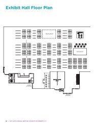 Exhibit hall floor Plan - the ASCB
