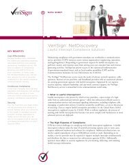 NetDiscovery: Lawful Intercept Compliance Solutions - DS - VeriSign