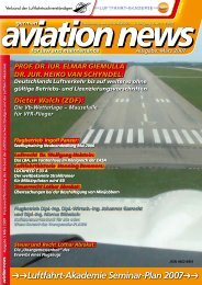 Luftfahrt-Akademie Seminar-Plan 2007 - Verband der ...