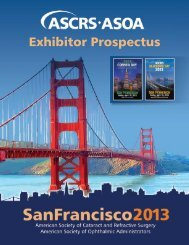 Download Exhibitor Prospectus - Annual ASCRS and ASOA ...
