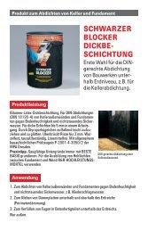 SCHWARZER BLOCKER DICKBE- SCHICHTUNG Erste ... - Lugato