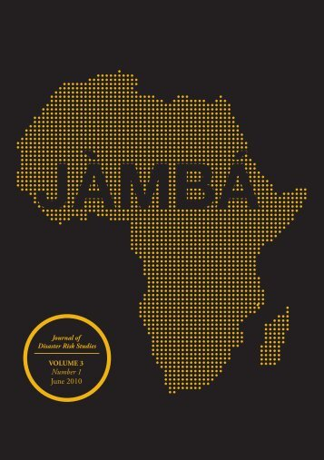 Volume 3 Number 1 here... - African Centre for Disaster Studies - NWU