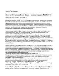 Suomen Sotatieteellinen Seura - ajassa mukana 1927-2009