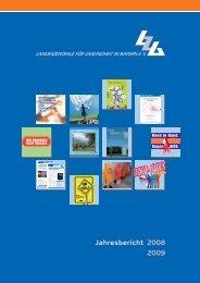 Jahresbericht 2008 2009 - Landeszentrale für Gesundheit in Bayern ...