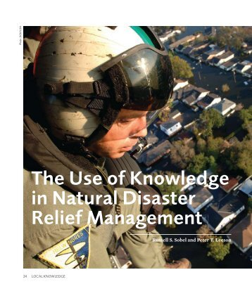 the use of knowledge in natural disaster relief ... - Mercatus Center