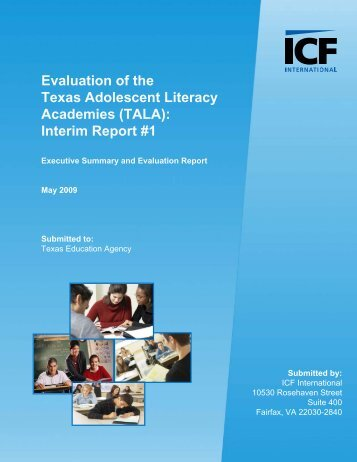 Evaluation of the Texas Adolescent Literacy Academies (TALA ...
