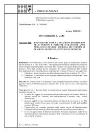 Provvedimento n.2200 / 13/8/2013 - Comune di Arezzo
