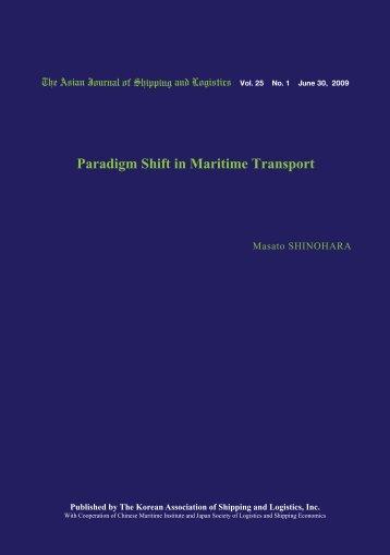 Paradigm Shift in Maritime Transport - Ajsl.info