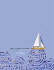 2007 Annual Report - Alberta Gambling Research Institute ...