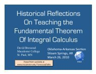 Historical Reflection on Teaching the Fundamental Theorem of
