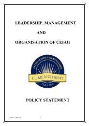 Careers Education Policy - Lumen Christi College