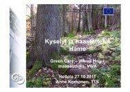 Green Care -kyselyiden ja haastattelujen tulokset Hämeessä ... - TTS