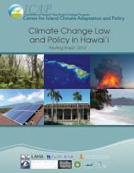 Climate Change Law and Policy in Hawai'i Briefing Sheet, 2012.