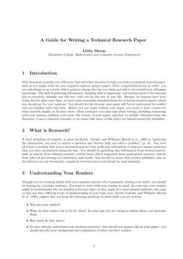 Technical research papers