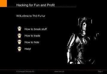 Read This!! - Hacking-Lab.com