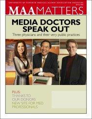 3220MAA SPRING 05.qxd - University of Toronto Medical Alumni ...