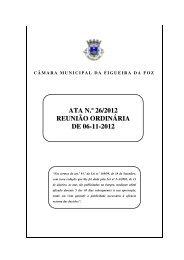 ATA N.º 26/2012 REUNIÃO ORDINÁRIA DE 06-11-2012