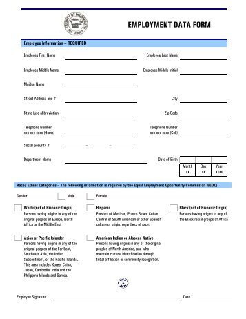 2013 new employee paperwork monmouth county