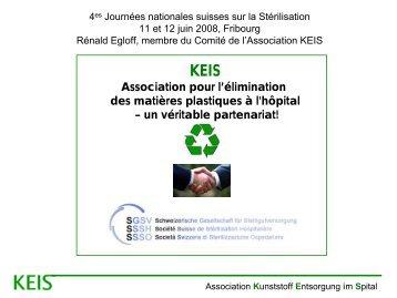 L'Association KEIS - Société Suisse de Stérilisation Hospitalière