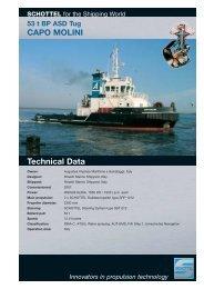 53 t BP ASD Tug CAPO MOLINI Technical Data - Schottel GmbH