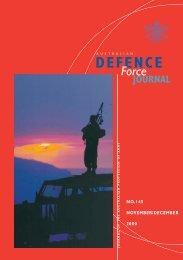 ISSUE 145 : Nov/Dec - 2000 - Australian Defence Force Journal