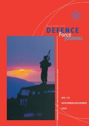 ISSUE 145 : Nov/Dec - 2000 - Australian Defence Force Journal