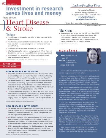 Heart Disease & Stroke - The Lasker Foundation