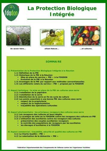 La Protection Biologique Intégrée - FDGDON Réunion
