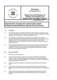 Expansion of St Robert Southwell School PDF 292 KB - Meetings ...