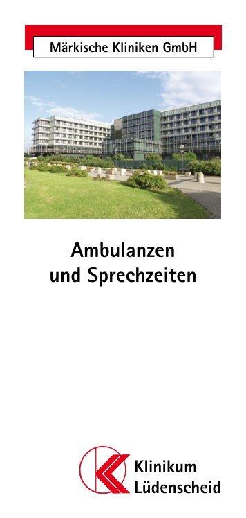 Ambulanzen und Sprechzeiten - Märkische Kliniken