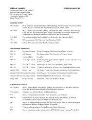 DEBRA R. HANSEN CURRICULUM VITAE Graduate Program in ...