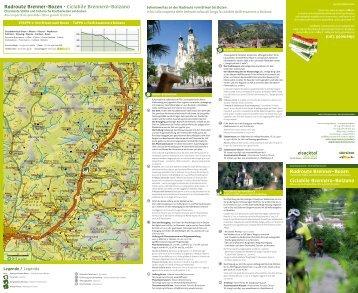Radroute Brenner-Bozen Ciclabile Brennero-Bolzano