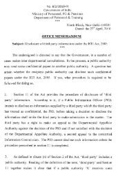 Disclosure of third party information under the RTI Act, 2005.