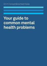 Your guide to common mental health problems - Cornwall Council