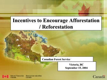 Incentives to Encourage Afforestation / Reforestation - the IEA ...