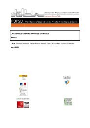 plate-forme d'observation des projets et strategies urbaines - POPSU