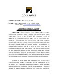 FOR IMMEDIATE RELEASE: October 23, 2008 CONTACT: Rick A ...