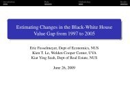 Estimating Changes in the Black-White House Value ... - eres.scix.net