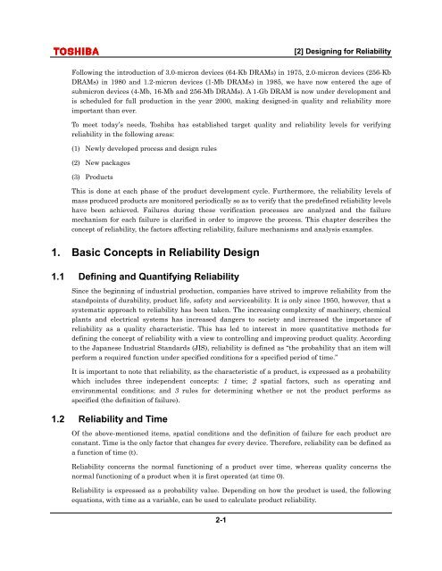 1. Basic Concepts in Reliability Design - nl3prc