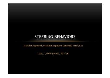 STEERING BEHAVIORS - AMIS