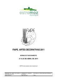 FIAPE. ARTES DECORATIVAS 2011 - Câmara Municipal de Estremoz
