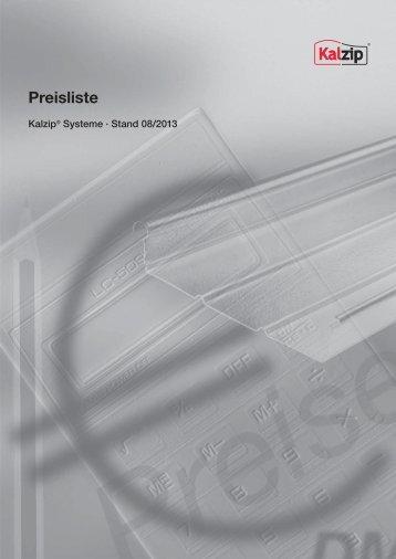 Preisliste - Kalzip