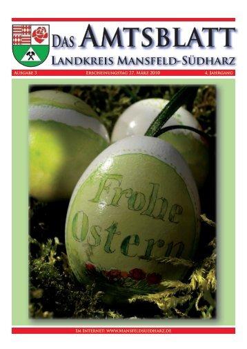 Ausgabe März 2010 - Amtlicher Teil - Landkreis Mansfeld-Südharz