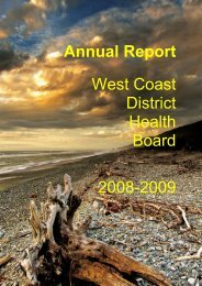 WCDHB Annual Report: 2008 - 2009 - West Coast District Health ...