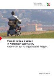 Persönliches Budget in Nordrhein-Westfalen - Ministerium für Arbeit ...