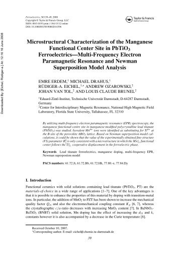 Microstructural Characterization of the Manganese Functional ...